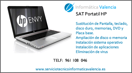 servicio tecnico portatil HP Gilet