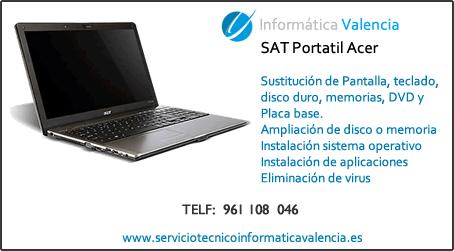 servicio tecnico portatil Acer Alcublas