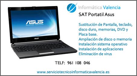 servicio tecnico portatil Asus Torrella