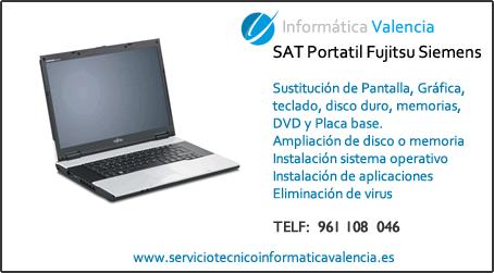 servicio tecnico portatil Fujitsu Siemens Villanueva de Castellón