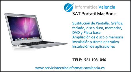 servicio tecnico portatil MacBook Carcaixent